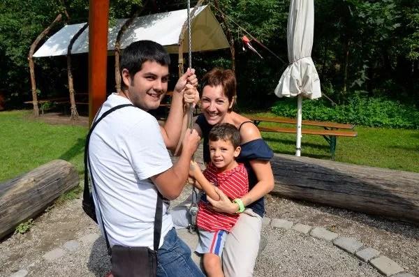 Pau, Vero y Teo en la Zona de Juegos para los Sentidos de Núremberg