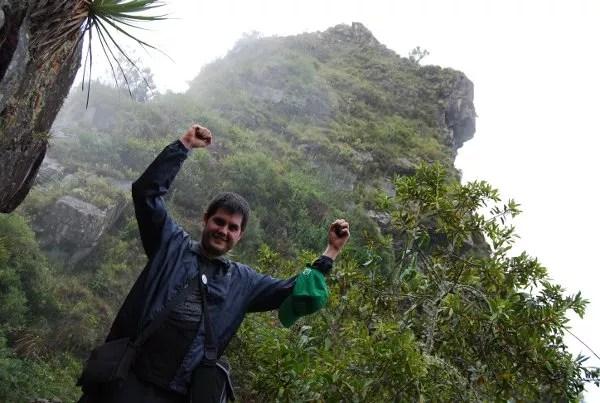 Pau en el Huayna Picchu