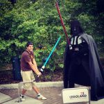 Pau y Dark Vader en Legoland Alemania