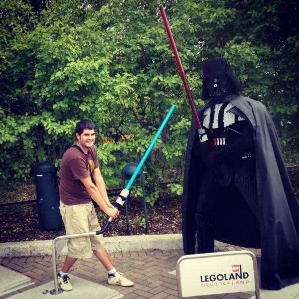 Pau y Dark Vader en Legoland