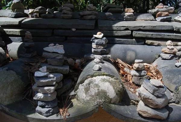 Piedrecitas en el templo Bulguksa de Gyeongju