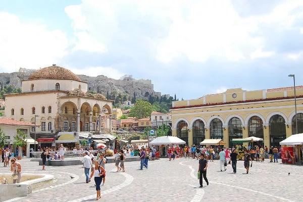 Plaza de Monastiráki en Atenas