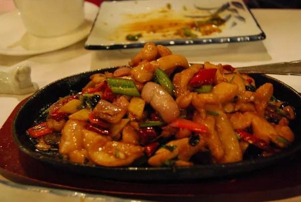 Pollo especiado del Bistro Bamboo de Hong Kong
