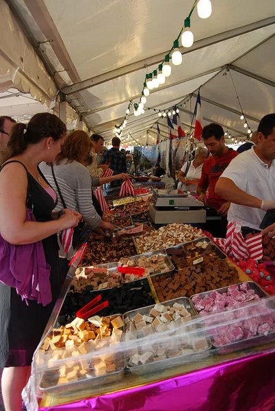 Puesto de dulces en Stavanger
