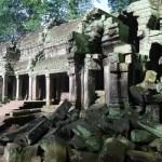 Restos de Ta Prohm en los templos de Angkor de Camboya