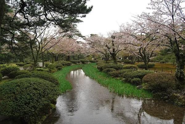 Riachuelo del Kenroku-en de Kanazawa