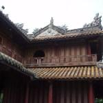 Tejados con forma de bambú de la Ciudadela de Hué