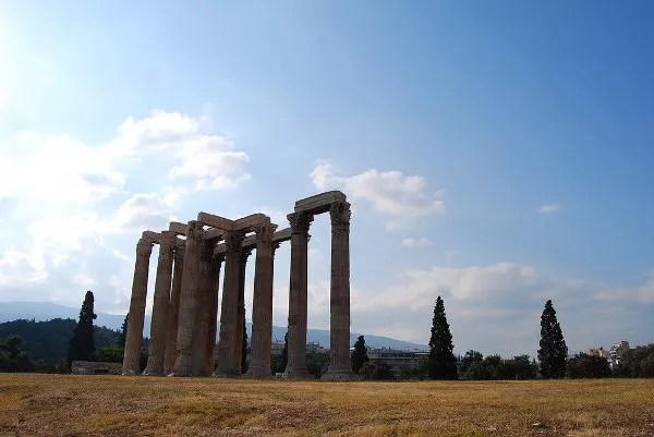 Templo de Zeus Olímpico en Atenas