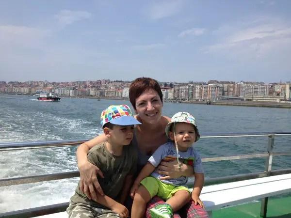 Teo, Vero y Oriol en La Pedreñera de Santander a Somo