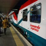 Tren Leonardo Express de Roma