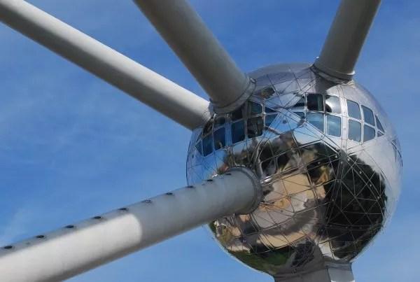 Una bola del Atomium de Bruselas