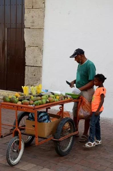 Vendedores de fruta en Cartagena de Indias