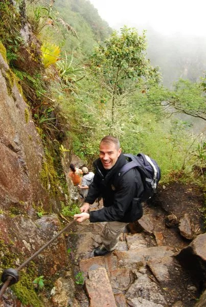 Viajando con Diego en el Huayna Picchu