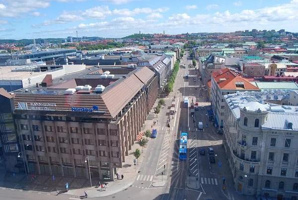 Vistas de Gotemburgo desde la noria