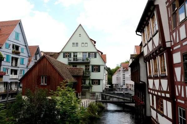 Vistas del barrio de pescadores de Ulm
