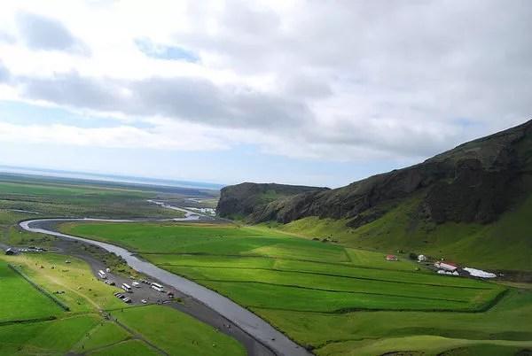 Vistas desde arriba de Skógafoss