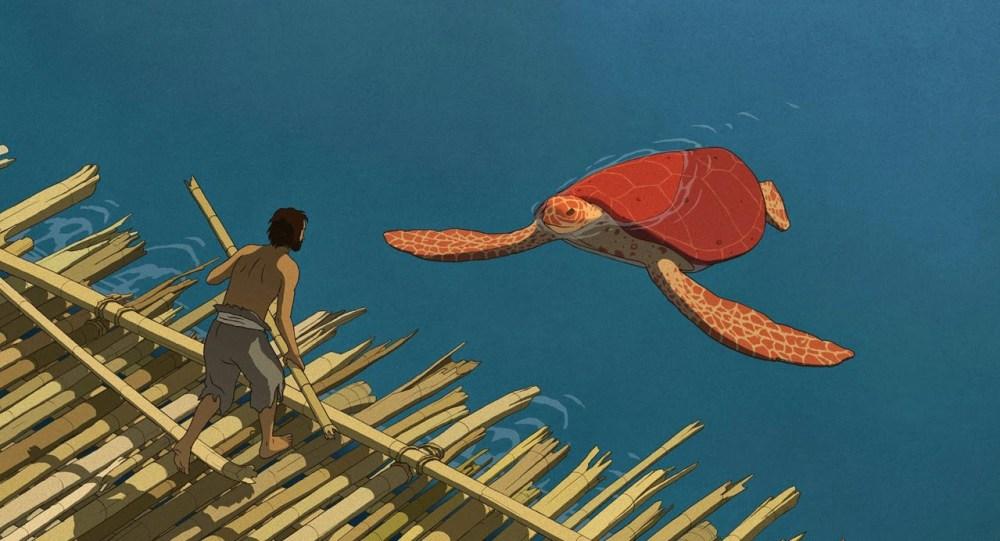 La tortuga roja. Portada. El Palomitrón
