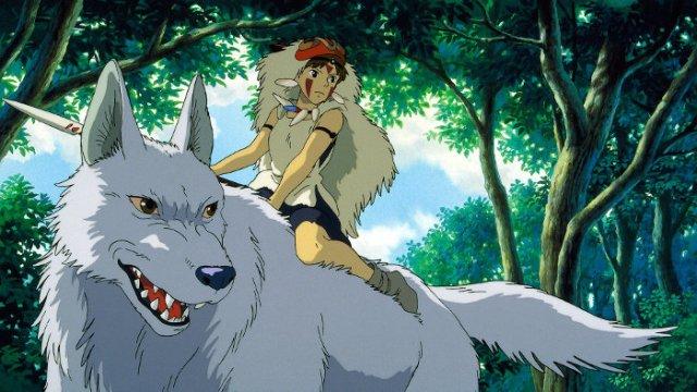 La Princesa Mononoke protagonista y lobo - el palomitrón