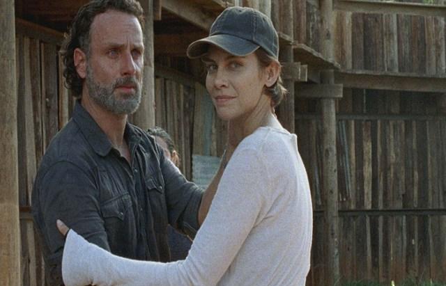 The Walking Dead 8x1 Rick y Maggie El Palomitrón