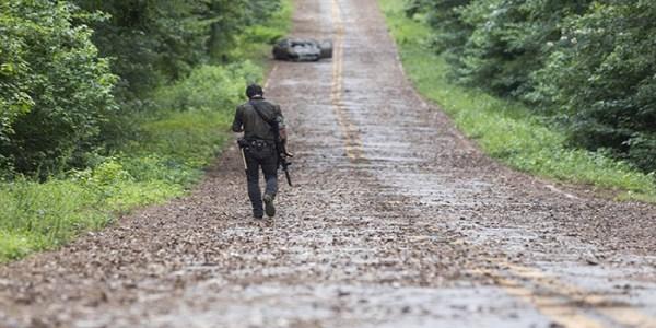 Rick de paseo The Walking Dead El Palomitrón