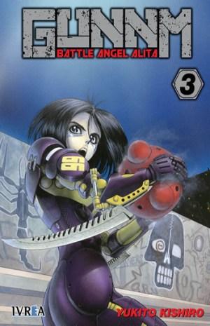 Reseña de GUNNM Battle Angel Alita #2 y #3 portada 3 - el palomitron