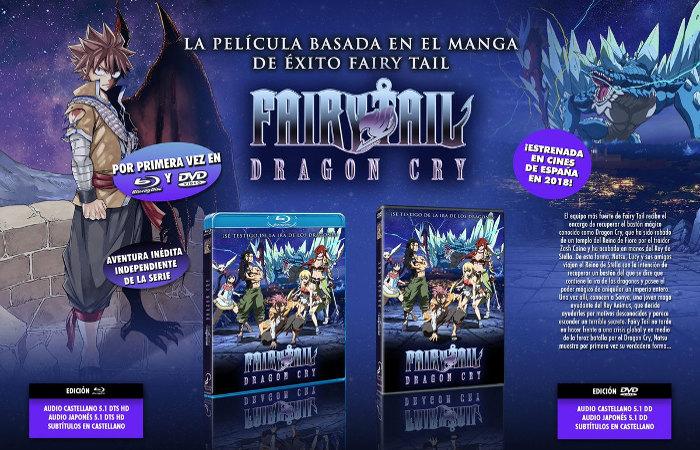 edición Blu-ray de Fairy TailDragon Cry, de Selecta Visión principal - el palomitron