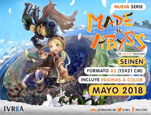 Made in Abyss licenciado por Editorial Ivrea en España cartel ivrea - el palomitron