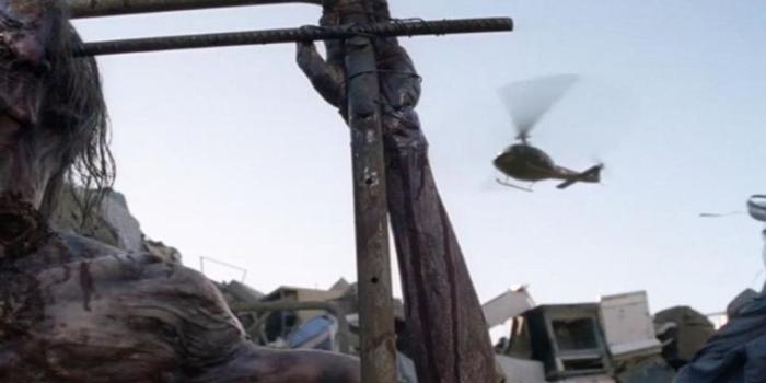 Helicóptero misterioso The Walking Dead El Palomitrón