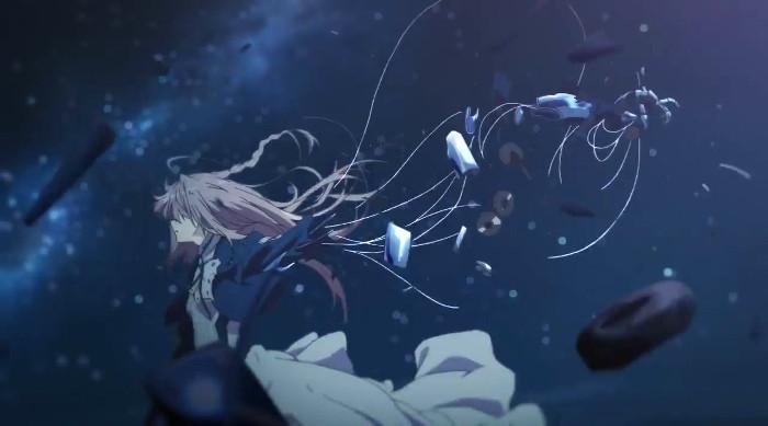 La animación de Violet Evergarden escena 11 - el palomitron