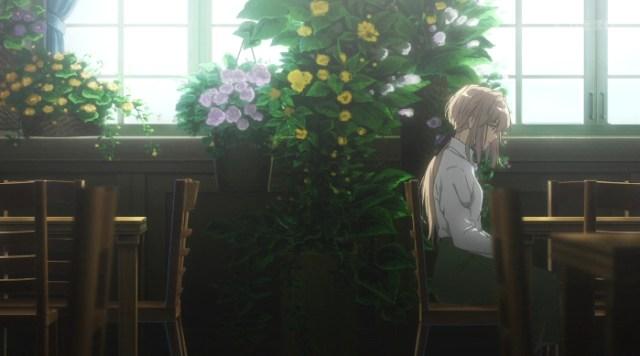 La animación de Violet Evergarden escena 2 - el palomitron