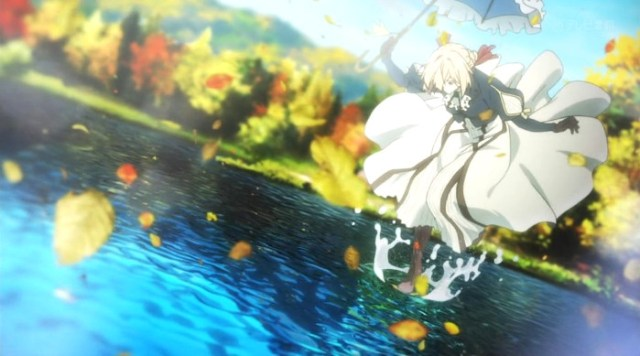 La animación de Violet Evergarden escena 8 - el palomitron