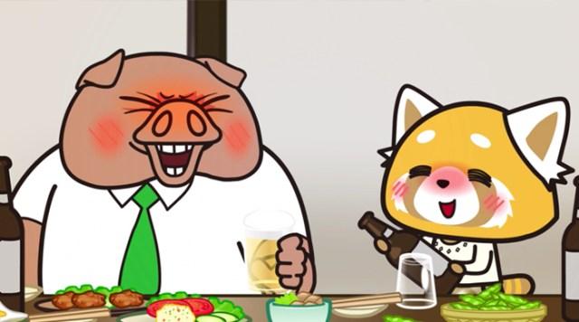 Crítica Aggretsuko Retsuko y su jefe - el palomitrón