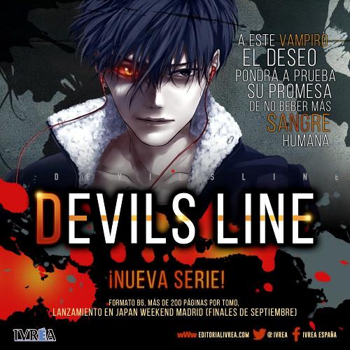 Devil's Line licenciado por Editorial Ivrea en España cartel - el palomitron