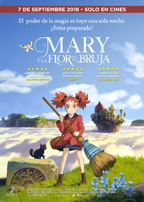 fecha de estreno de Mary y la flor de la bruja en España poster - el palomitron