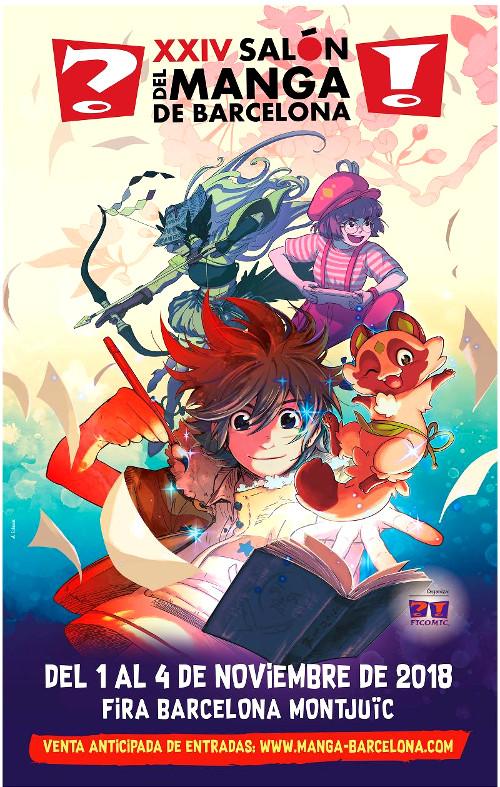 Detalles, fechas y precios del XXVI Salón del Manga de Barcelona cartel promocional - el palomitron