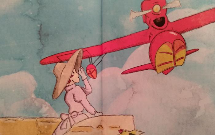 'Biblioteca Studio Ghibli Porco Rosso', de Manu Robles Galería 12 - El Palomitrón