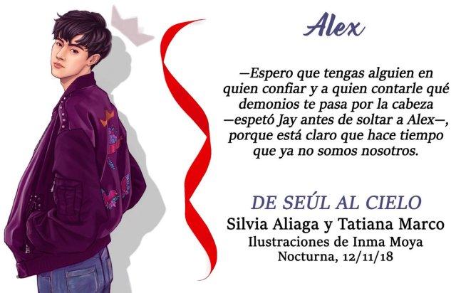 DE SEÚL AL CIELO NOCTURNA PERSONAJE ALEX - EL PALOMITRÓN
