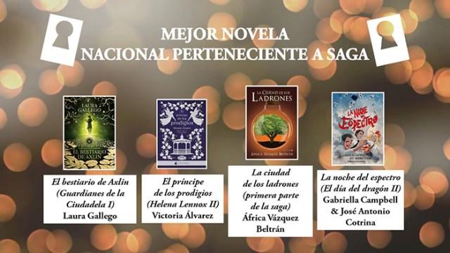 Mejor novela nacional perteneciente a saga premios Templis- El Palomitrón