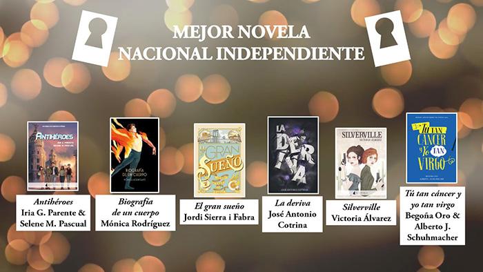 Mejor novela nacionanal independiente premios Templis- El Palomitrón