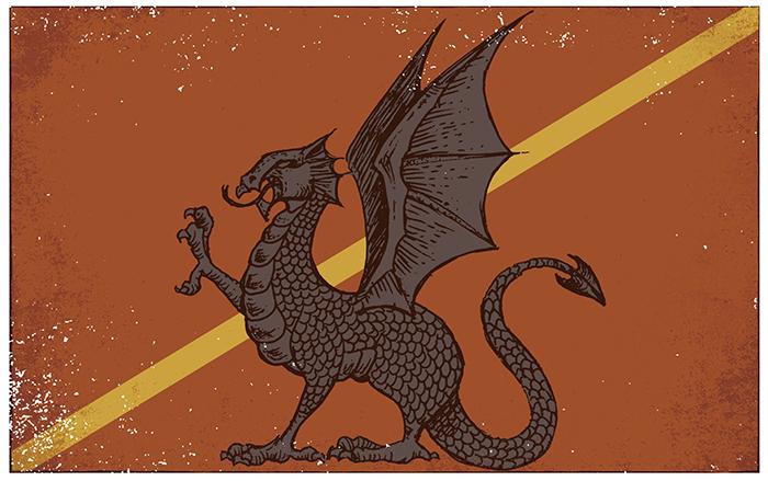El orgullo del dragón Bandera Viria- El palomitrón
