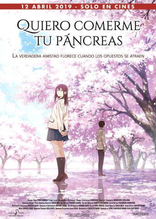 Fecha de estreno de Quiero comerme tu páncreas en España poster - El Palomitrón