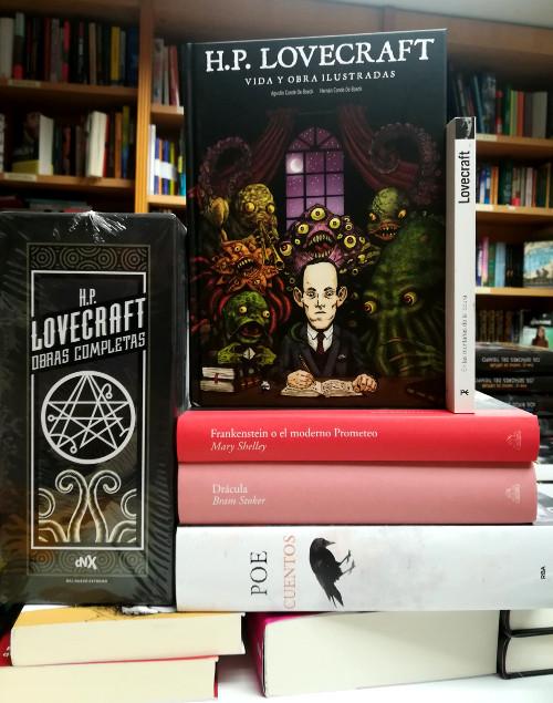 HP Lovecraft Vida y obra ilustradas foto texto - El Palomitrón