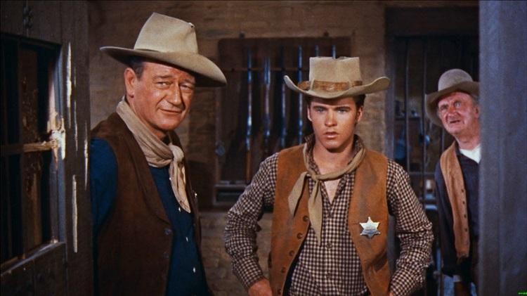 John Wayne, Ricky Nelson, Walter Brennan + Río Bravo + El Palomitrón