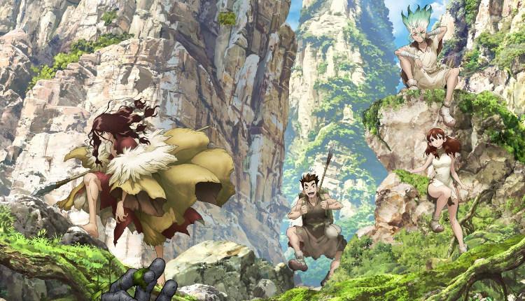 anime de Dr. Stone Senku - el palomitron