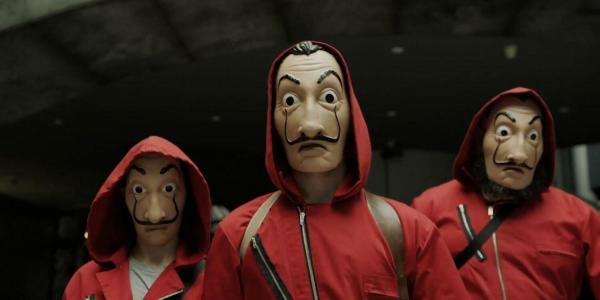 La casa de papel. banda con máscaras, EL PALOMITRÓN