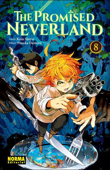 Reseña de The Promised Neverland #8 portada - El Palomitrón
