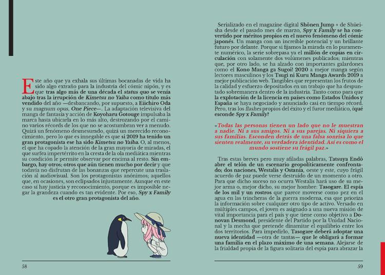 éxito manga Spy x Family página dossier - El Palomitrón