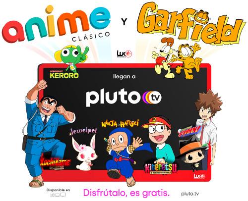 Anime Clásico y Garfield, los dos nuevos canales de animación de Pluto TV cartel promocional - El Palomitrón