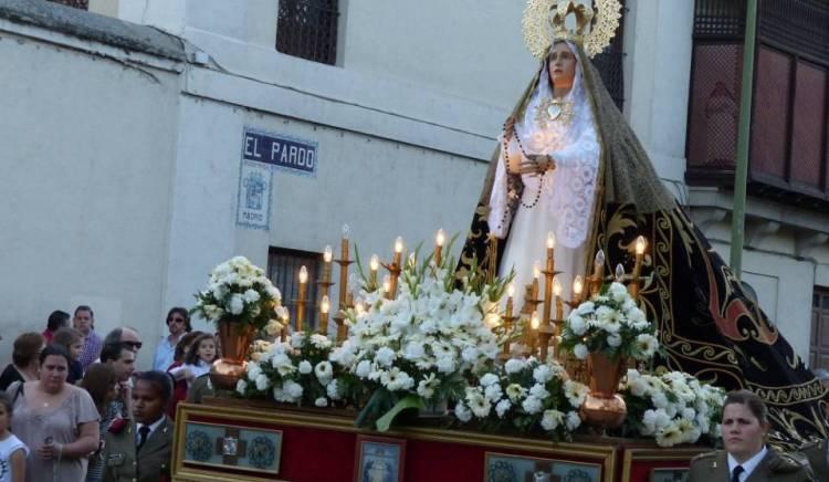 Semana Santa en El Pardo. Virgen Dolorosa