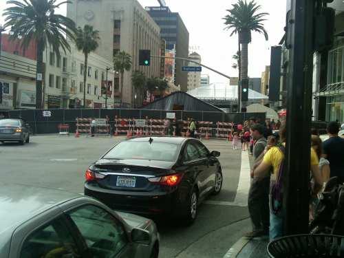 El bulevar Hollywood ya fue cerrado a la circulación debido a los preparativos para la ceremonia de entrega de los Premios de la Academia. (Foto José Ubaldo/El Pasajero).